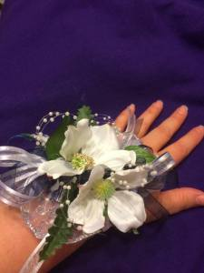 Another Hatchett Job, dogwood corsage and buttonaire, diy crafts, frugal prom, photo by Cyndie Hogeland